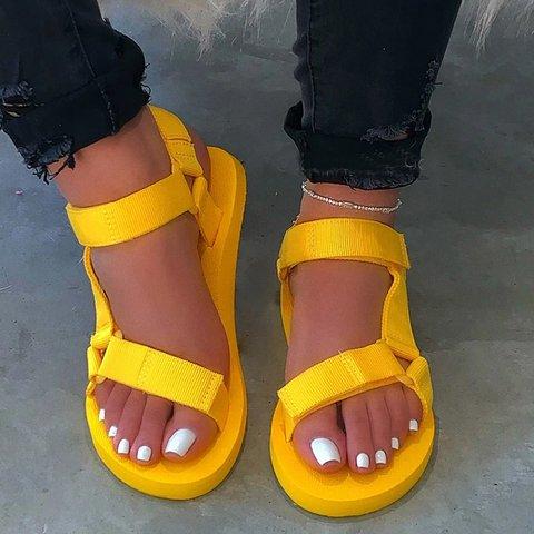Black Summer Low Heel Sandals