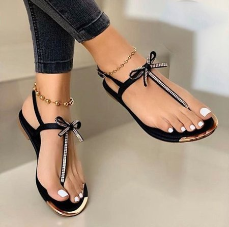 Women Summer Bowknot Comfy Pointed Sandal